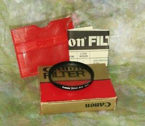 Vintage Canon Camera 55mm 81A Daylight Filter Lens w/ Box / Cuts blue haze warms