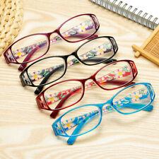 Women Men Fashion Flowers Printed Reading Glasses Ultra-light Elegant Eyeglass