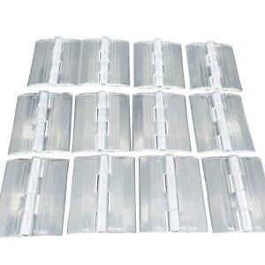 12pcs Clear PMMA Acrylic Plastic Folding Plexiglass Hinge 45 x 38mm A579