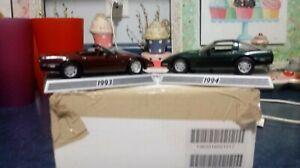 Danbury Mint 50 Years of Corvette 1/43 Scale 1993/1994 Lot of 2 Original box
