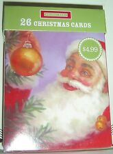26 Count Pack CHRISTMAS CARDS Red Green ENVELOPES HOLIDAY 13 Designs SANTA Snow