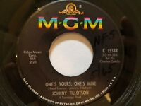 JOHNNY TILLOTSON - Then I'll Count Again / One's Yours, One's Mine EX 1965 POP