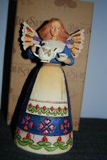 Jim Shore Heartwood Enesco 2002 Angel Of Hospitality teapot 108919 box Open Eyes