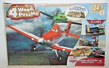"Disney Cars  ""Planes""  Wooden Puzzle - 4 Different Puzzles with Storage Box"
