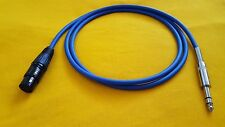 """Mogami 2549 XLR-F (female) to 1/4"""" TRS Stereo Balanced Audio Cable - Blue 25 ft"""