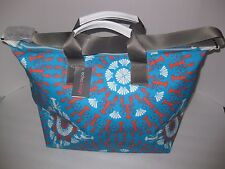 ECHO DESIGN Weekender Bag, Overnight Tote, LOBSTER ROLL, Teal Orange White, NWT