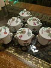 New listing Louis Laurioux France Set of 6 Custard Cups with Lids & Handles
