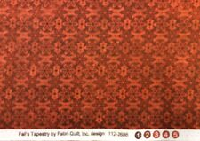 Fabri-Quilt - 'Fall's Tapestry' Rusty Red Mixer Fabric - 100% Cotton- By 0.25m