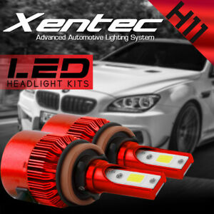 2x XENTEC H11 H9 H8 LED Headlight Bulb Kit Low Beam Fog Light 388W 6000K 7600LM