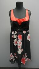 ETRO Black Floral Sleeveless Scoop Neck Knee Length Casual Dress Sz 44 FF9861