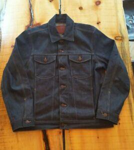 NWT Freenote Cloth USA Broken Twill 13oz Japanese Selvedge Denim Jean Jacket XL