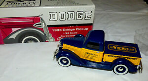 🚘New In Box Liberty Spec Cast 1936 Dodge Pickup Bank 1:28 Scale J C Whitney