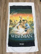 Vintage Wishman Movie 1992 Promo Beach Towel Vtg Thrashed Wish Genie Paul Le Mat