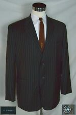 fc03717b4bdced NWT Sharp Gray, Black & Brown Stripe Jacket with Dbl Vent (Size 43R)