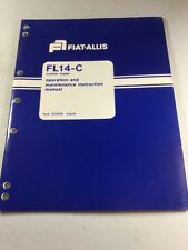 Fiat Allis Fl14 C Crawler Loader Operation And Maintenance Manual