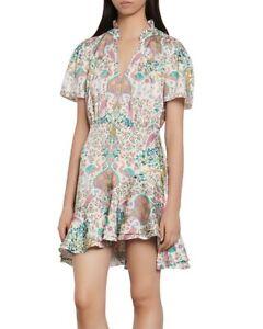 Sandro Iren Floral Mini Dress Size Small