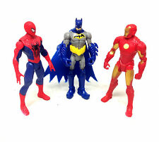 "Marvel & Dc Universe 3.75"" figuras de acción Ironman, Batman, Spiderman Set Lote"