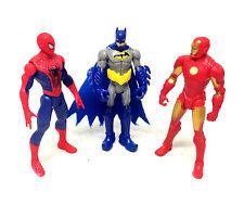 "MARVEL & DC Universe 3.75"" Action Figure Ironman, BATMAN, SPIDERMAN SET LOTTO"