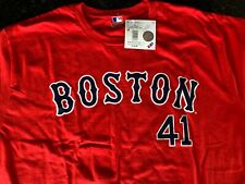 DYNASTY Boston Red Sox Adult Mens 3 Button Dri Ft Polo T-Shirt