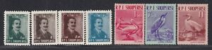 Albania Stamp 1958 Luigi Gurakuqi & 1961 Birds sets, MH with OG, VF