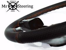 Cubierta del Volante Cuero perforado para Opel Movano MK3 Naranja Doble St
