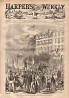 1868 Harpers Weekly July 18-Schutzenfest; Democratic Convention at Tammany;China