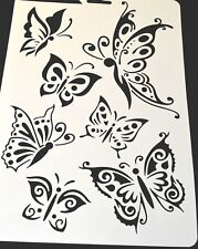 Wall Stencil Reusable Plastic Template Butterfly Moth No6