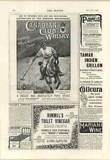 1894 Canadian Club Whisky Hiram Walker Charles Reilly Birmingham Beds