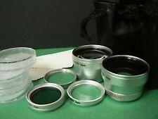 SL LENS WIDE+TELE+FILTER FOR 40.5mm Sony NEX-6/NEX-5R NEX-3N w/16-50mm SELP1650