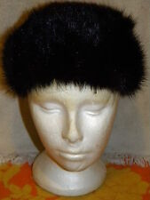 VINTAGE MINK FUR HAT BLOOMINGDALES AMY NEW YORK UNION MADE IN USA 7'' ACROSS TAG
