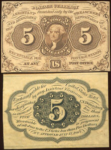 FR1231SP 5c FRACTIONAL CURRENCY OBVERSE & REVERSE PROOFS BN4668