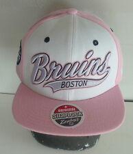 """Boston """"BRUINS""""  Flat Brim Snapback Cap - Zephyr -  NWT - Pink Swoop"""