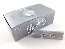 50 Pack Smoking Silver Master 1.25 Cigarette Rolling Papers 2500 Leaves 3114-50