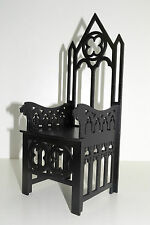 Gothic Throne for dolls 16-18 in Tonner BJD Furniture chair 1:4 wooden OOAK NEW