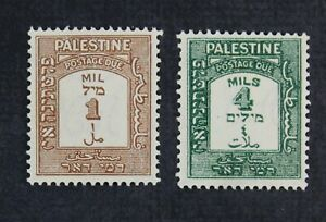 CKStamps: Palestine Stamps Collection Scott#J12a J14a Mint H OG