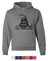 Don't Tread On Me Hoodie Gadsden Flag Political Patriot