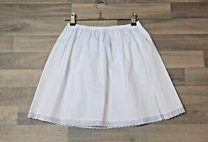 Black White 100% Cotton Underskirts Size 6 - 20 Waist slips Half Slip petticoats