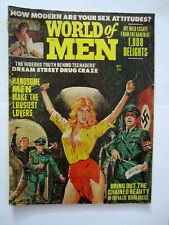 VINTAGE WORLD OF MEN MAGAZINE 1965 MEN'S ADVENTURE PULP NAZI TORTURE