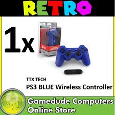 Ps3 TTX Wireless Blue Controller PlayStation 3