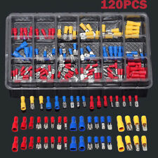 Electrical Assorted Insulated Wire Cable Terminal Crimp Connector Spade Kit Set