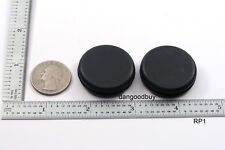"2 Rubber Grommets Without Hole - Rubber Plug - Solid Grommet 1"" Diameter"