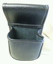 Black buffalo hide Cartridge pouch holds a box of 25. 12g shotgun cartridges