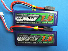 2 NANO-TECH 1800mAh 3S 11.1 LIPO TRAXXAS 1/16 E-REVO SLASH RALLY SUMMIT BOSS VXL