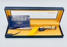 New ListingWaterman Exclusive Ballpoint Pen Silver Plated used w/ box and guarantee card.