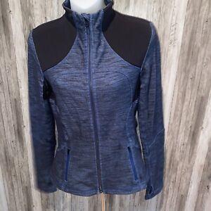 LULULEMON Forme Jacket Slub Denim Limitless Blue Black  Sz 6