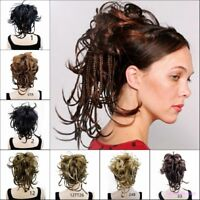 Ponytail Clip-on Short Curly ponytail Extensions hair Hairpiece Braided HairClip