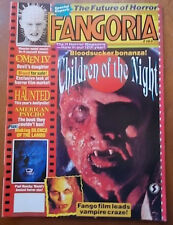 Cameron Mitchell, Paul Naschy, Tony Randel, Omen IV - FANGORIA Magazine 1991