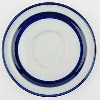 Noritake Primastone Fjord B951 Blue Band Saucer Plate 6 1/8'' Free Shipping
