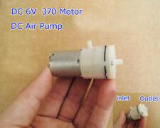 DC 6V 3V 370 Motor mini DC Air Pump Vacuum pump Suction Pump High quality S