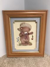CHILDS 3D TEDDY BEAR PICTURE ~ FRAMED IN PINE